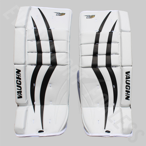 Vaughn V7 VPG XF Youth Hockey Goalie Leg Pads - White/Black
