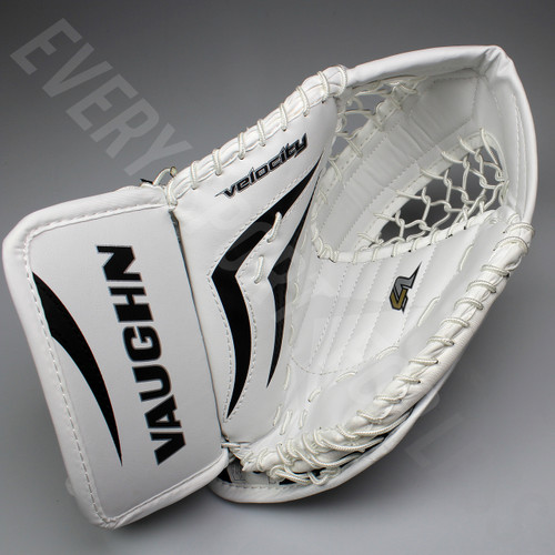 Vaughn V7 T XF Youth Hockey Goalie Catch Glove - Black/White