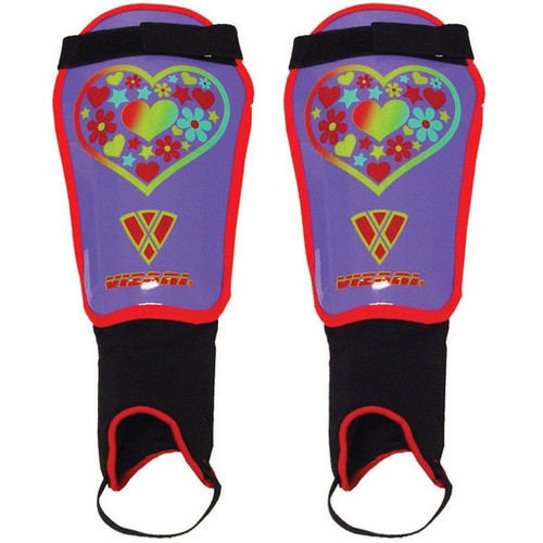 Vizari Harmony Soccer Shinguards - Purple/Red