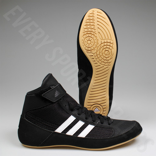 Adidas HVC 2 Mens Wrestling Shoes AQ3325 - Black / White
