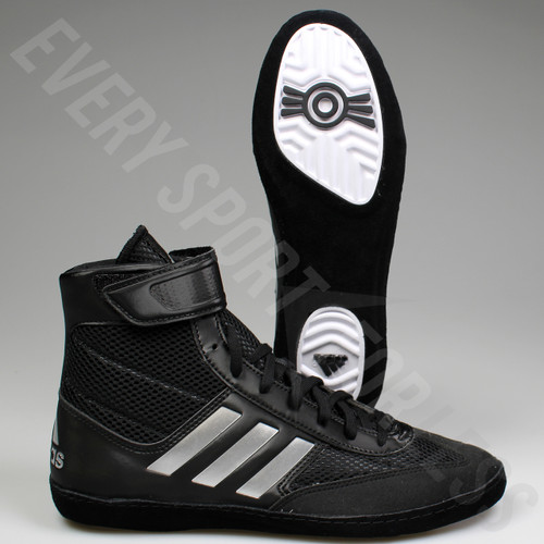 Adidas Combat Speed 5 Mens Wrestling Shoes BA8007 - Black / Silver
