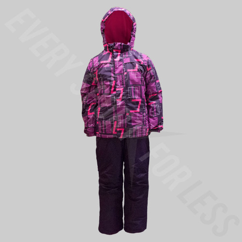 Pulse Junior Youth Slam Snow Suit Combo - Purple Plaid