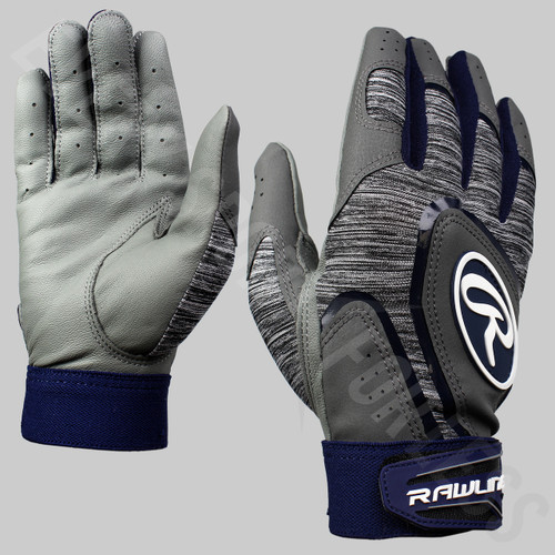 Rawlings 5150 Youth Baseball Batting Gloves - Navy