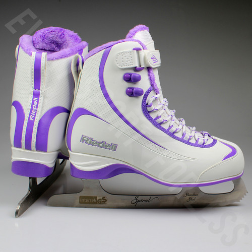 Riedell 625 Soar Softboot Womens Figure Skates - White / Purple