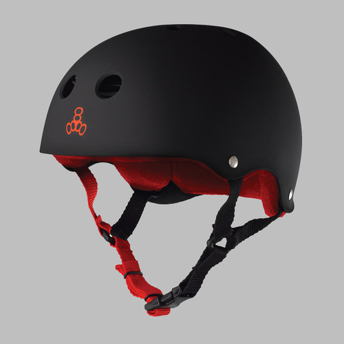 Triple 8 Brainsaver w/Sweatsaver Liner Skate Helmet - Black / Red