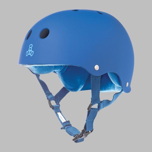Triple 8 Brainsaver w/Sweatsaver Liner Skate Helmet - Royal/Royal