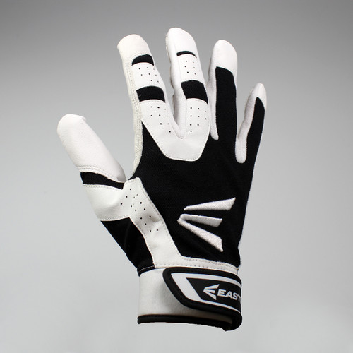 Easton HS3 Senior Hyperskin Batting Gloves - White / Black