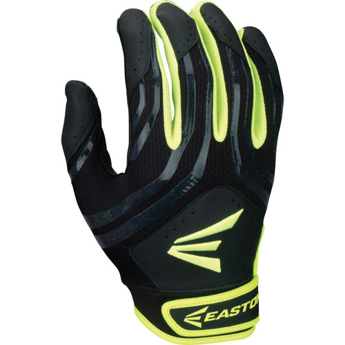 Easton HF3 Youth Hyperskin Batting Gloves - Black / Optic