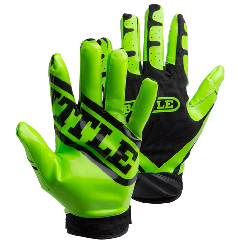 Battle Ultra Stick Football Junior Receiver Gloves - Neon Green/Black