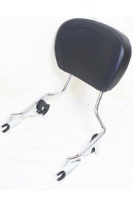 Detachable Chrome Touring Passenger Sissy Bar With Backrest Pad