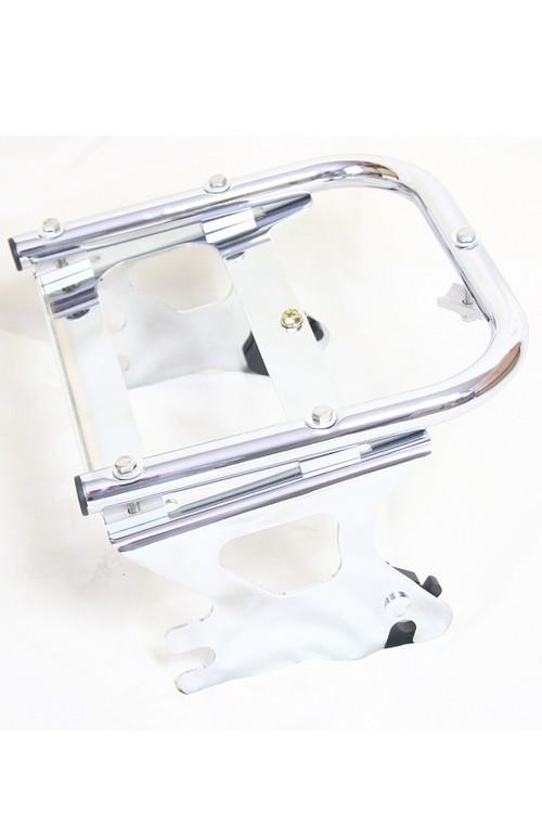 Detachable Chrome Two-Up Tour-Pak Luggage Rack