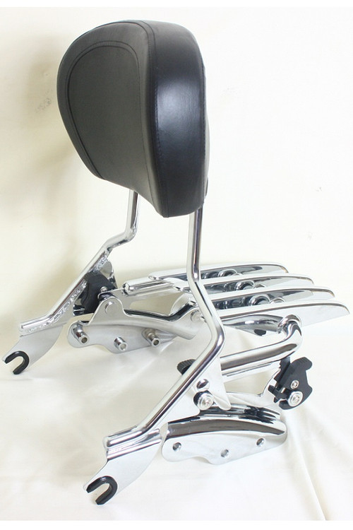 Detachable Passenger Sissy Bar Backrest Stealth Luggage