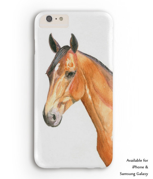 Bay Horse Head Equestrian Phone Case The Painting Pony