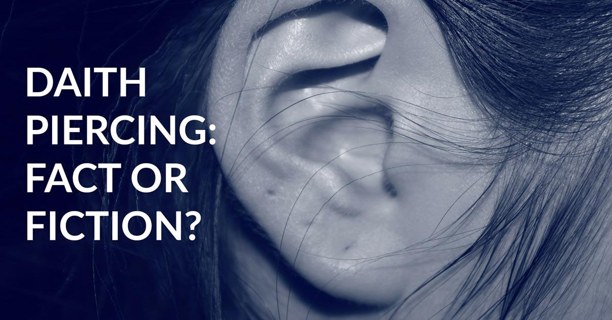Inner Ear Daith Piercing for Migraine