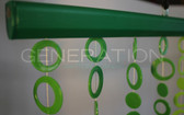 Green Hip Circles Beaded Curtains - 3 Feet by 6 Feet