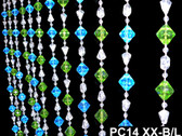 Blue & Green Gemstone Beaded Curtains - 3 Feet by 6 Feet