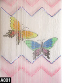 Doorway Beaded Curtains Butterfly Hand Strung