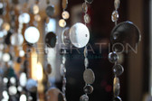 Hanging Doorway Beaded Curtains Champagne Bubble Silver beads