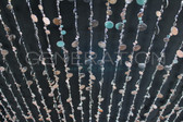Silver Champagne Bubbles Beaded Curtains - 3 Feet by 12 Feet