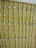 Doorway Beaded Curtains Crystal Disco Balls - One Foot Panels 1' Wide X 6' Length