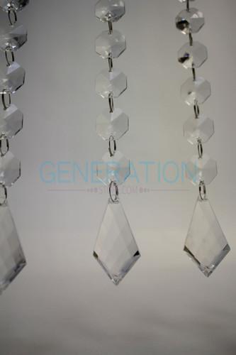 Acrylic Crystal Diamond Doorway Beaded Curtain - 1' Feet Wide