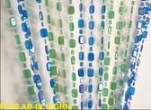 Doorway Beaded Curtains Emerald Cut Blue/Green