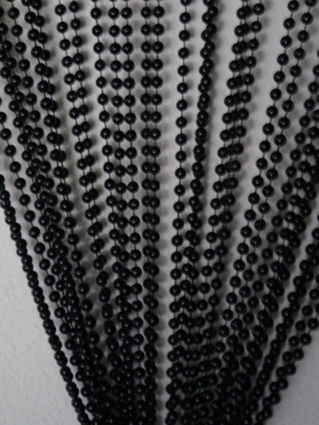 Doorway Beaded Curtains Faux Metal Jet Black Ball Chain Curtain Generationstore Com