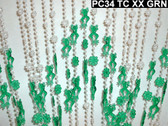 Green Frogs Beaded Curtains - 3 Feet by 6 Feet
