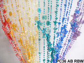 Rainbow Iridescent Angels Beaded Curtains - 3 Feet by 6 Feet