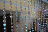 Hanging Doorway beads Acrylic Diamond cut Crystals