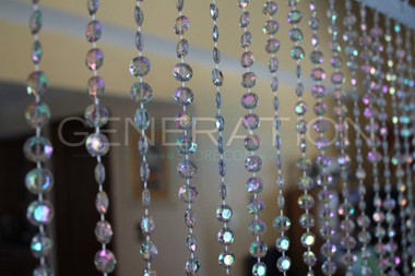 Diamond Beaded Curtains - 3 Feet by 6 Feet - 12 Colors