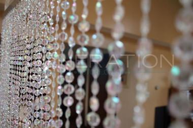 Crystal Iridescent Diamond Beaded Curtains - 9, 12, 20 Feet Long Options