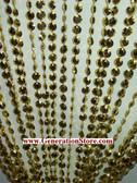 Gold Iridescent Diamond Beaded Curtains - 3 Feet by 12 Feet