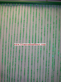 12 Foot Length Beaded Curtains Iridescent Diamond Cut Green