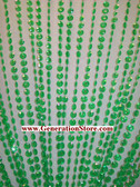 Green Iridescent Diamond Beaded Curtains - 3 Feet by 12 Feet
