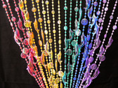 Rainbow Iridescent Dolphins Beaded Curtains - 3 Feet by 6 Feet