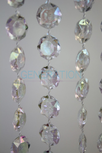Acrylic Diamond Cut Crystal Beads