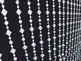Small Gemstone Beaded Curtains - 3 Feet by 6  Feet 3 Colors