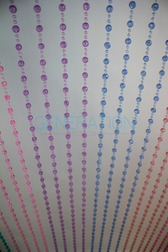 Hanging Doorway Beaded Curtains Pearl Balls Blue-Green-Purple color beads