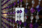 Purple Gemstone Beaded Curtains - 3 Feet by 6 Feet