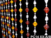 Red & Yellow Gemstone Beaded Curtains - 3 Feet by 6 Feet
