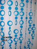 Blue Hip Circles Beaded Curtains - 3 Feet by 6 Feet