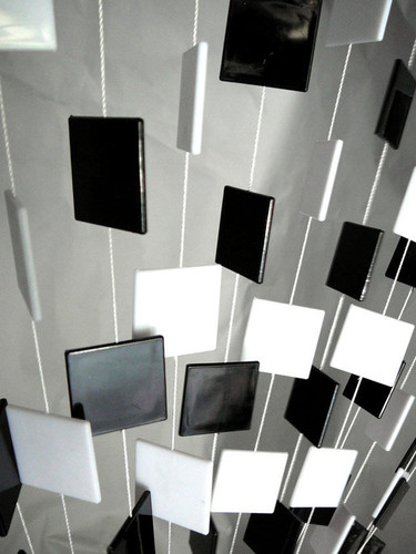 Black & White Retro Squares Beaded Curtains