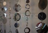 Silver Hip Circles Beaded Curtains - 3 Feet by 6 Feet - 10 Strands