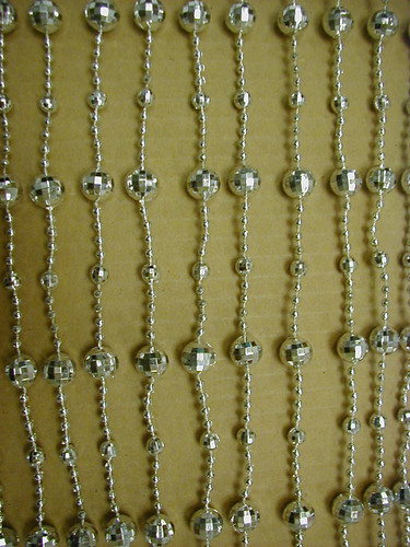 Mirror Disco Ball Beaded Curtains - 1 Foot by 6 Feet