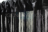 Black String Curtain 3 Feet Wide X 9 Feet Long