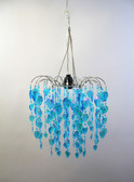 Acrylic Waterfall Beaded Chandelier Blue
