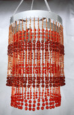 Brown Beaded Chandelier 2 Tiers Cubic Balls Chandelier