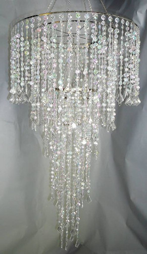 "Extra Long Beaded Chandelier Combination of 24"" and 10"""