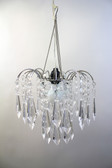 Acrylic  Drop Crystals Beaded Chandelier Hand Hooked